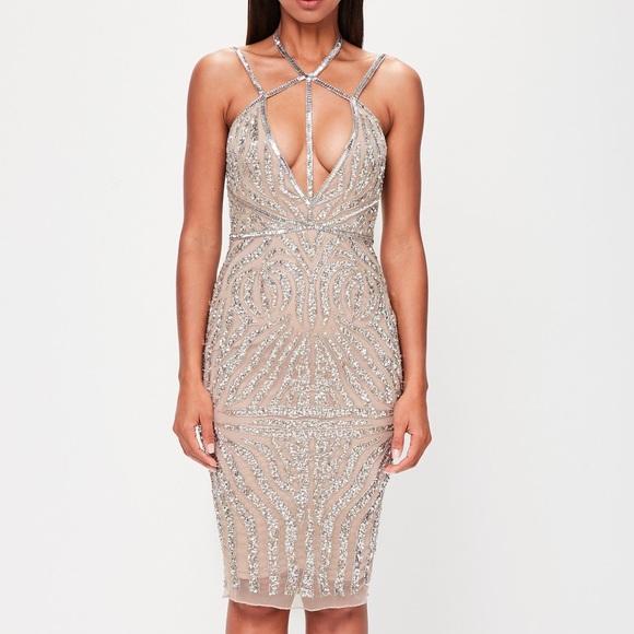 78ff569f Missguided Dresses | Embellished Midi Dress | Poshmark